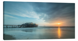 Canvas print  Sunset at the beach bar 54Grad in St.Peter-Ording - Heiko Mundel