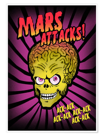 Premium poster  Mars Attacks! - 2ToastDesign