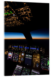 Acrylglas print  Airbus A380 Cockpit at twilight - Ulrich Beinert