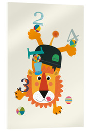 Acrylglas print  Colourful counting lion - Jaysanstudio