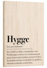 Hout print  Hygge definitie (Duits) - Pulse of Art