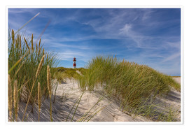 Premium poster  Lighthouse List / East with dune - Heiko Mundel