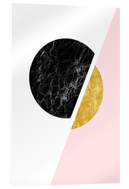 Acrylglas print  Scandinavian composition with marble and gold - Radu Bercan