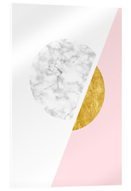 Acrylglas print  Scandinavian design with marble and gold - Radu Bercan