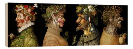 Hout print  The four seasons - Giuseppe Arcimboldo
