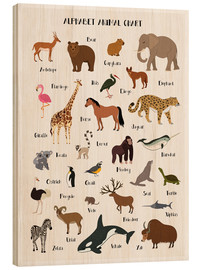 Hout print  Learn the ABC - English - Kidz Collection