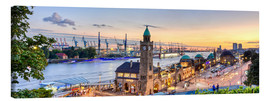 Canvas print  St. Pauli landing bridges, Hamburg - Art Couture