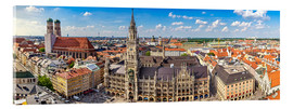 Acrylglas print  Panorama of Munich - Art Couture