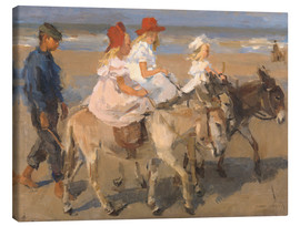 Canvas print  Donkey rides on the beach - Isaac Israels