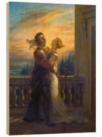 Hout print  Romeo and Juliet - Eugene Delacroix
