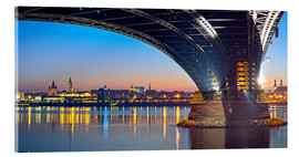 Acrylglas print  Mainz Germany  with rhine bridge - Fine Art Images